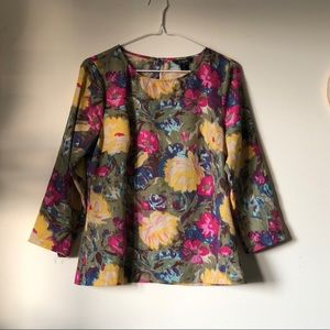 J.Crew | 3/4 sleeve floral top - size XS